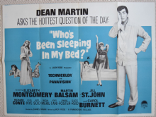 Who's Been Sleeping in My Bed, Original UK Quad Poster, Dean Martin 1963